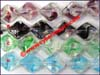 Chinese two-tone crystal glass jewelry beads
