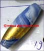 Bead Glass Foil Lined Cylinder Oval