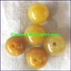 Yellow Nephrite Jade Beads