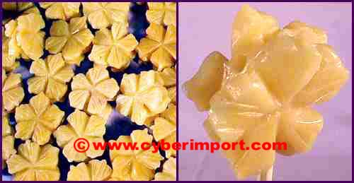 Yellow Jade Gemstone Beads Flower
