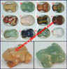 Gemstone Set Frog Figurines