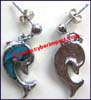 Earring Abalone Shell Dolphin