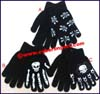 Fashion Acrylic Skull Gloves