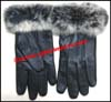 Gloves Leather Fur Cuff