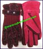Fashion Leather Sheepskin Gloves