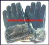 Gloves Leather Suede Fur