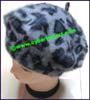 Ladies Animal Skin Beret Cap