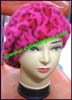 Ladies Fur Beret Cap