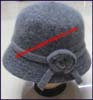 Ladies Rabbit Fur Cloche Hat