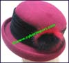 Ladies Solid Cloche Hat