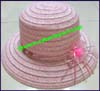 Ladies Paper Straw Downturn Brim Hat
