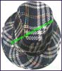 Ladies Plaid Fedora Hat