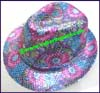 Ladies Sequin Fedora Hat