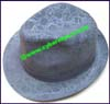 Ladies Velour Fedora Hat