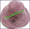 Ladies Striped Floppy Brim Hat