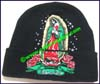 Ladies Embroidered Knit Stocking Cap