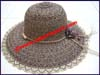 Ladies Women's Hemp Lampshade Brim Hat