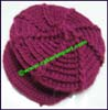Ladies Crocheted Newsboy Cap
