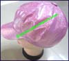 Ladies Glitter Newsboy Cap