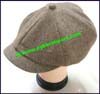 Ladies Herringbone Newsboy Cap