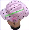 Ladies Polka Dot Newsboy Cap