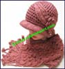 Ladies Stripes Hat Sets