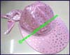 Ladies Polka Dot Sunshade Hat
