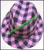 Ladies Checkerboard Trilby Hat