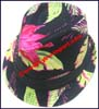 Ladies Tropical Pattern Trilby Hat