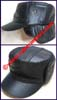 Men's Leatherette Military Caps