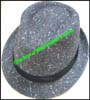 Men's SyntheticTrilby Hat