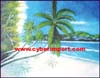Oil Painting Beach Scenic